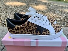 Z. Emma Women's Skate Lace Up Tennis Shoes Leopard Size 7.5 New