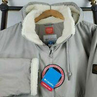 NWT COLUMBIA Size 3XL Womens Sherpa Lined Hooded Bomber Jacket Coat $200 NEW