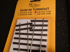 Micro- Engineering #14-453 On30 #5 CODE 70 LH TURNOUT BIGDISCOUNTTRAINS