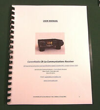 CommRadio Cr-1A Instruction Manual - ring bound with protective covers!