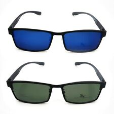 Magnetic Polarized Clip-on Sunglasses Eyeglass Frame Driving Fishing Glasses Men