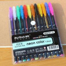 12 Colors Set Fluorescent Highlighter Marker Painting Pen Kid School Stationery