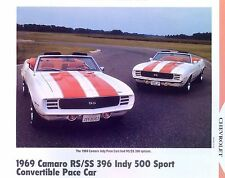 1969 Chevrolet Camaro SS 396 Indy 500 Sport Convertible Pace Car info/specs 11x8