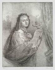 W.FRANQUINET(*1785) nach Schalken, Dame mit Zeichnung eines Freundes, Lith