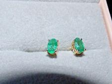 Emerald Gold Earrings BN  - Vibrant Stones