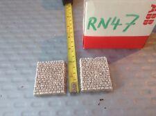 2x  - Z scale gauge- -  bridge Abutment Single Track rustic Stone Style-painted