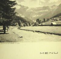 1934 Cie Gle French Menu Transatlantique Lafayette Croisiere Spitzberg Diner