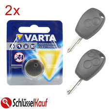 2x Varta Batteria Auto chiave per Renault Clio Modus Twingo Dacia Duster Logan