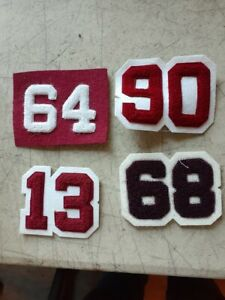 4 NOS   JACKET YEAR NUMBER CHENILLE PATCHES