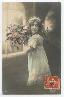c 1910 Child Children pretty YOUNG  GIRL French photo postcard