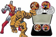 La chose Marvel Superheros-colorisée JFK demi-dollar Coin Set avec COA