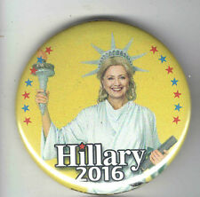 2016 pin HILLARY Clinton for PRESIDENT pinback STATUE of LIBERTY #2