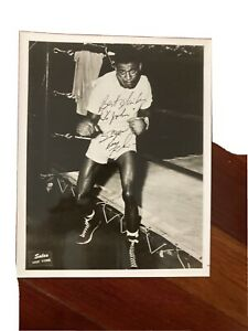 Rare Sugar Ray Robinson Jsa Auction Letter  Signed Boxing Photo  10/10 Autograph