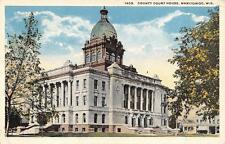 MANITOWOC, WI  Wisconsin     COUNTY COURT HOUSE  Courthouse     c1920's Postcard