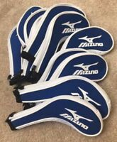 11PCS Blue Mizuno Golf Club Iron Covers HeadCovers Long Zipper High Quality UK