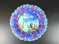 New York America USA Souvenir Plate Wall Plate Plate 18 CM, Ceramic Plate ,(4)