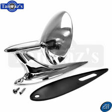 1958 Chevy Bel Air Chrome Round Outside Door Mirror with Hardware Dynacorn