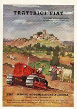 PUBBLICITA' 1949 TRATTORE AGRICOLO FIAT CINGOLO TRACTOR M.QUAGLINO PITTORE