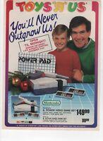 1988 TOYS R US - 16 PG HOLIDAY INSERT - TOYS NINTENDO G.I JOE VINTAGE PRINT AD