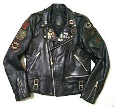 "AMAZING 1968 "" ROCKERS "" LEATHER MOTORCYCLE JACKET - LEWIS TRIUMPH BSA TT RACES"