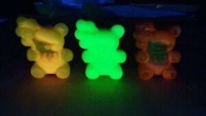 Vintage Boyd Glass Patrick the Bear Lot Uranium Mix Glows N Black Light