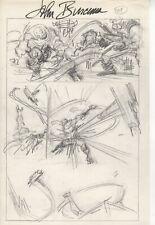 John Buscema  original pencil The AVENGERS!  Captain America/ Thors hammer idea?