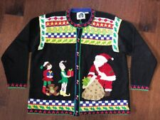 Storybook Knits Cardigan Sweater Women's Size 1X Ugly Christmas Free Shipping