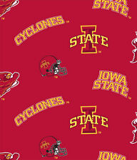 IOWA STATE CYLCONES COTTON FABRIC-IOWA STATE COTTON FABRIC SOLD BY THE YARD