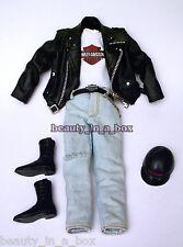Harley Davidson Motorcycle Fashion for Ken Doll Barbie Denim Jeans BIKER Q