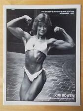 WOMEN'S PHYSIQUE PUBLICATION female bodybuilder muscle magazine/LORI BOWEN 11-83