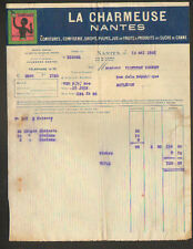 """NANTES (44) CONFITURES , PRODUITS au SUCRE de CANNE ... """"LA CHARMEUSE"""" en 1921"""