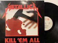 Metallica – Kill 'Em All LP 1983 Roadrunner Records RR 9902 VG+/EX Netherlands