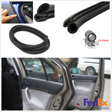 118'' Push-on Weatherstrip Car Door Edge Rubber Steel Sealing Strip Reduce Noise