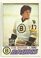 1977 77-78 OPC O-PEE-CHEE BOSTON BRUINS STAN JONATHAN #270 ROOKIE RC EX-MT+
