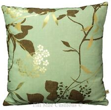 Harlequin Fusion Fabric Blue Gold Neutral Floral Cushion Pillow Cover
