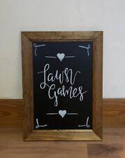 Chalkboard sign - Lawn Games, wooden frame, wedding decor