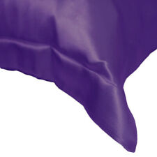 Bridal Satin Pillow Sham 100% Acetate - Made In The U.S.A. Purple, King