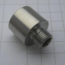 "Bull barrel (od 0.920"") adapter female 1/2 x 28UNEF to male 1/2 x 20UNF s.steel"