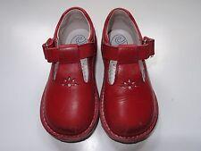 Zapatos rojos de piel número 22, para niño o niña. Marca Crios