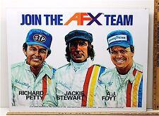 1973 Aurora AFX HO Slot Car Art Work Mans Room THE RACE TEAM Framed Advertising