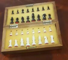 Travel Chess Set In Wooden Box