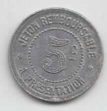 WWI France Monnaie de necessite jeton token - L'Herault 1922 - 5 Centimes 109