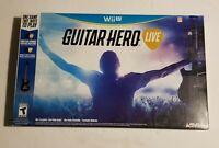 Wii U Guitar Hero Live - Guitar, Receiver / Dongle & Strap - No Game - TESTED!