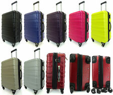 Hard Shell 4 Wheels Suitcase ABS Luggage Travel Bag Case Cabin Hand Carry On