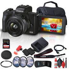 Canon EOS M50 Mark II Mirrorless Digital Camera with 15-45mm Lens - Bundle