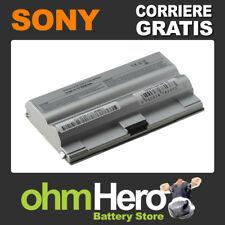 Batteria Argento 5200mah per Sony Vaio Vgn-fz150e/bc