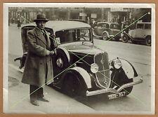 Photo 18 x 13 vintage snapshot automobile Peugeot 201 BR3 modéle 1934 gd036