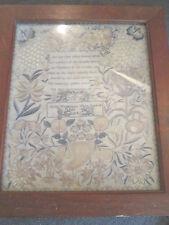 VINTAGE PRINT OF VICTORIAN NEEDLEWORK SAMPLER