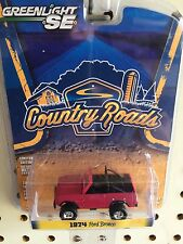 Greenlight Country Roads 1974 Ford Bronco. Maroon