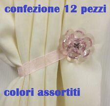 cc 12 Calamite LegaTenda Ferma Tende Colorate Cristallo Fiore Diametro 5cm moc